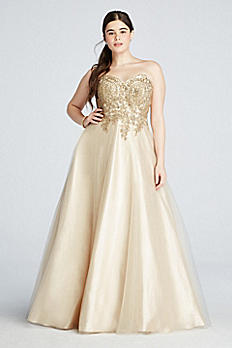 Lace Embroidered Prom Dress with Sweetheart Neck 3035W