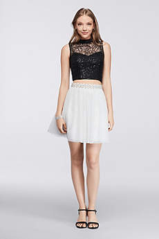 Short Ballgown Tank Prom Dress - City Triangles