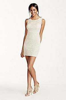 Sleeveless Lace Dress with Illusion Neckline 3135PZ3C