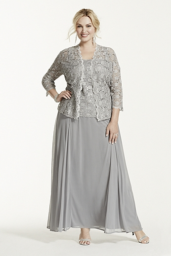 Plus size mother of the bride dresses and evening gowns by for Wedding dress jackets plus size