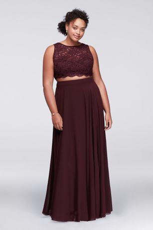 Plus Size Prom Dresses 2 Pices