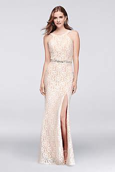 Long Sheath Halter Prom Dress - City Triangles