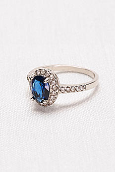 Oval Sapphire Halo Ring 3264827