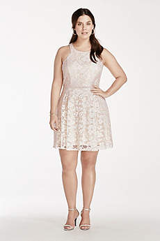 Short A-Line Halter Cocktail and Party Dress - David's Bridal