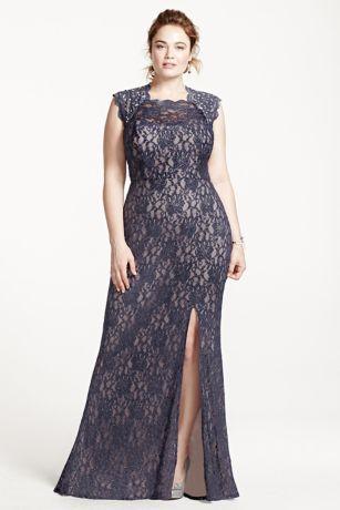 09cd633720 Evening Dresses For Weddings 09. long sheath cap sleeves prom dress city  triangles