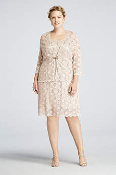 Short Sheath 3/4 Sleeves Dress - RM Richards