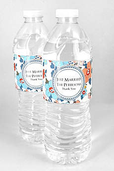 Personalized Floral Water Bottle Labels Set of 5