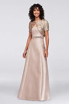 Long A-Line Jacket Formal Dresses Dress - Ignite