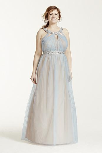 Beaded Cutout Halter Dress 3766PQ7W