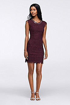 Short Lace Homecoming Dress with Back Cutouts 3816ME5B