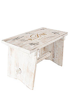 Personalized Monogram Guest Book Bench 3950
