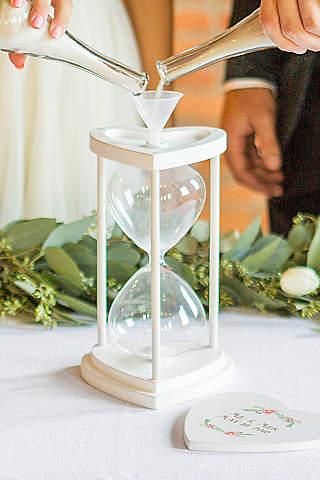 Vintage wedding decorations davids bridal personalized unity sand ceremony hourglass set junglespirit Gallery