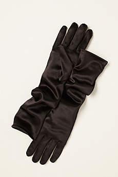 Greatlookz Satin Elbow Length Gloves