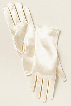 Greatlookz Girls Satin Wrist Length Gloves 3GLDA914