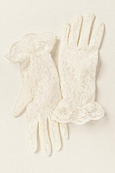 Greatlookz Lace Gloves for Girls in Wrist Length 3GLDA916