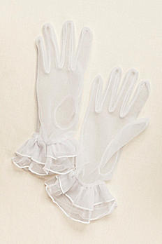 Greatlookz Sheer Wrist Length Gloves 3GLDS74012L