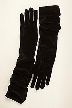 Greatlookz Velvet Opera Length Gloves 3GLFT805