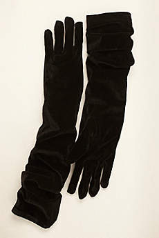 Greatlookz Velvet Opera Length Gloves