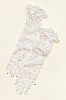 Greatlookz Girl's Sheer Lace Elbow Length Gloves 3GLHPLLG1830