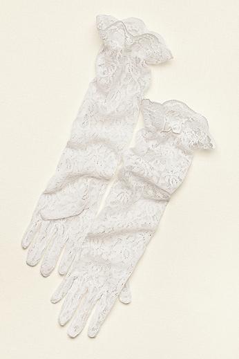 Greatlookz Girl's Sheer Lace Elbow Length Gloves 3GLHPLLG1830