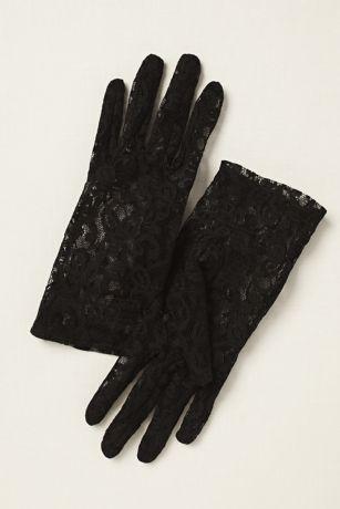 Stretch Lace Wrist Length Gloves | David's Bridal - photo #3