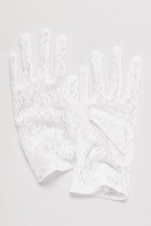 Stretch Lace Wrist Length Gloves - Davids Bridal - photo #9