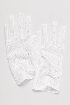 Stretch Lace Wrist Length Gloves 3GMG879L
