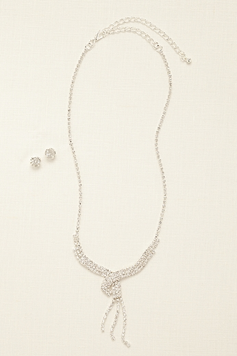 Three Row Tassel Y Necklace Set 400771N001