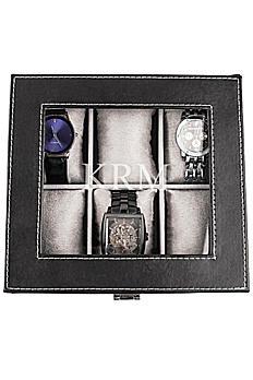 Personalized Leatherette Watch Box 4027
