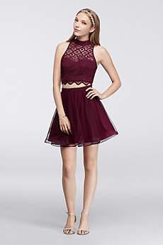 Short Ballgown Halter Prom Dress - My Michelle