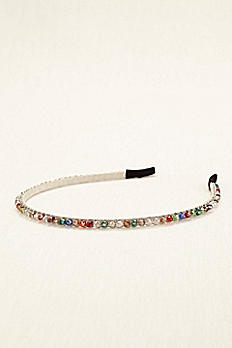 Multi Color Beaded Hard Headband 404262HB003