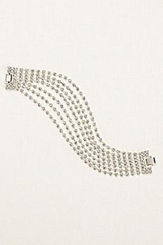 Seven Row Crystal Clasp Bracelet 404612B001