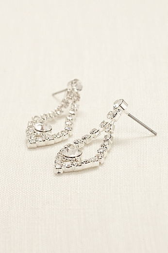 Open Tear Drop Rhinestone Earrings 4050770