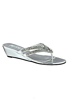 Tango Low Wedge Crystal Sandals 4052