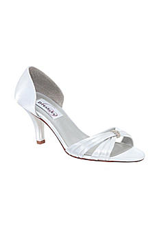 Daisy Dyeable Satin Pump with Crystal Detail 40573
