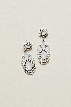 Multi-Stone Faceted Chandelier Earrings 4077610E001