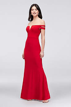 Long Sheath Off the Shoulder Formal Dresses Dress - Xscape