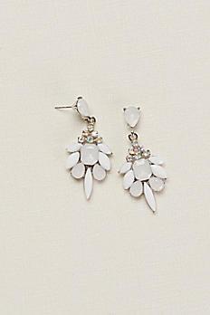 Multi Stone Faceted Earrings 409602E002