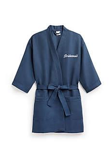 Personalized Waffle Kimono Robe