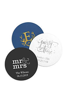 Personalized Paper Coasters Round Set of 100