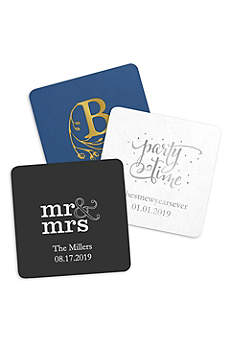 Personalized Paper Coasters Square Set of 100