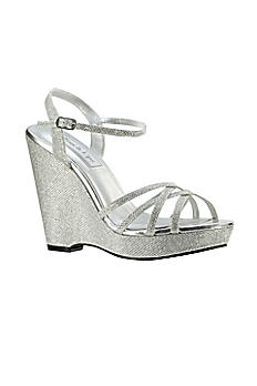 Jaden Shimmer Quarter Strap Wedge Sandals 4156
