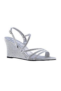 Paige Shimmer Strappy Wedge Sandals 4176