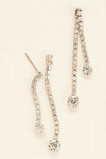 Front and Back Rhinestone Drop Earrings 418572E001