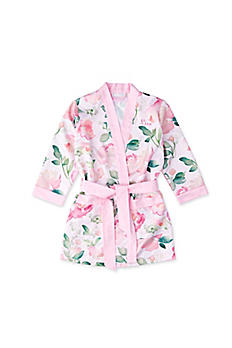 Personalized Pink Floral Flower Girl Kimono Robe 42002