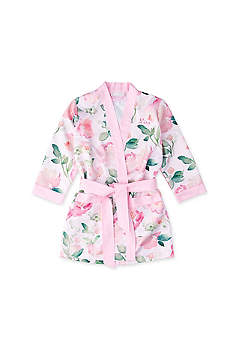 Personalized Pink Floral Flower Girl Kimono Robe