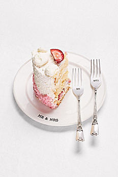 Embossed Mr and Mrs Cake Tasting Set 4235006