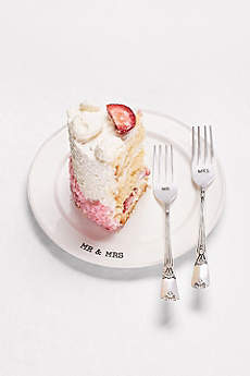 Embossed Mr and Mrs Cake Tasting Set