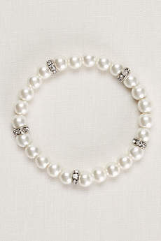 Pearl and Crystal Alternating Bracelet