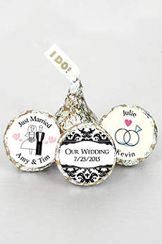 Pers I DO Classic Wedding Silver and Gold Kisses